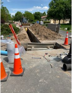 Water main replacement on S. Polo Ridge Drive