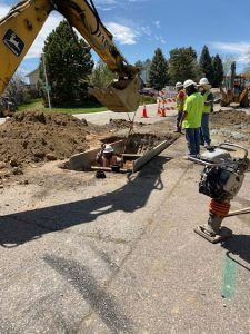 Water main replacement on W. Walden Avenue